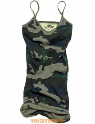 Майка Ladies Tank Top Beata | Цвет Woodland Camo